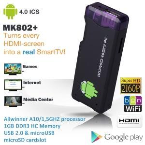 Allwinner A10 MK802+ Android 4.0 Mini PC im USB-Stick Format!