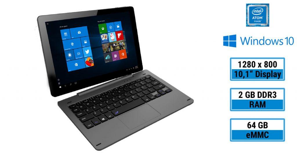 "10"" Windows 10 Convertible Notebook Tablet"