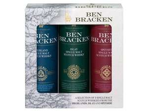 Ab 11.12 bei Lidl Ben Bracken Single Malt Whisky Mini-Pack, 3x0,05-l-Fl für 7,99€