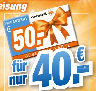 [LOKAL expert Octomedia] 50 € Geschenkkarte für 40 € erhalten
