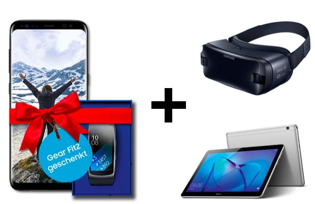 Samsung Galaxy S8 für 4,95€ inkl. Gear Fit 2 + Huawei MediaPad T3 oder Samsung Gear VR im Vodafone Smart L+ Tarif für 41,99€ / Monat mit 5 GB LTE + Allnet- & SMS Flat