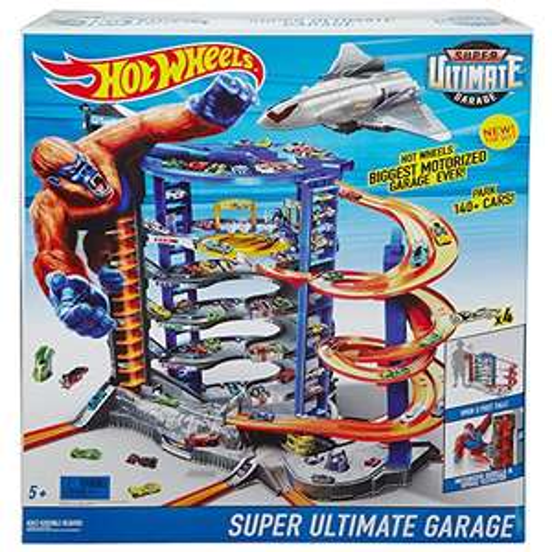 [Amazon oder Toysrus] Mattel Hot Wheels FDF25 - Super Megacity Parkgarage (90cm höhe. 140 Parkplätze. inkl. 4 Fahrzeugen)
