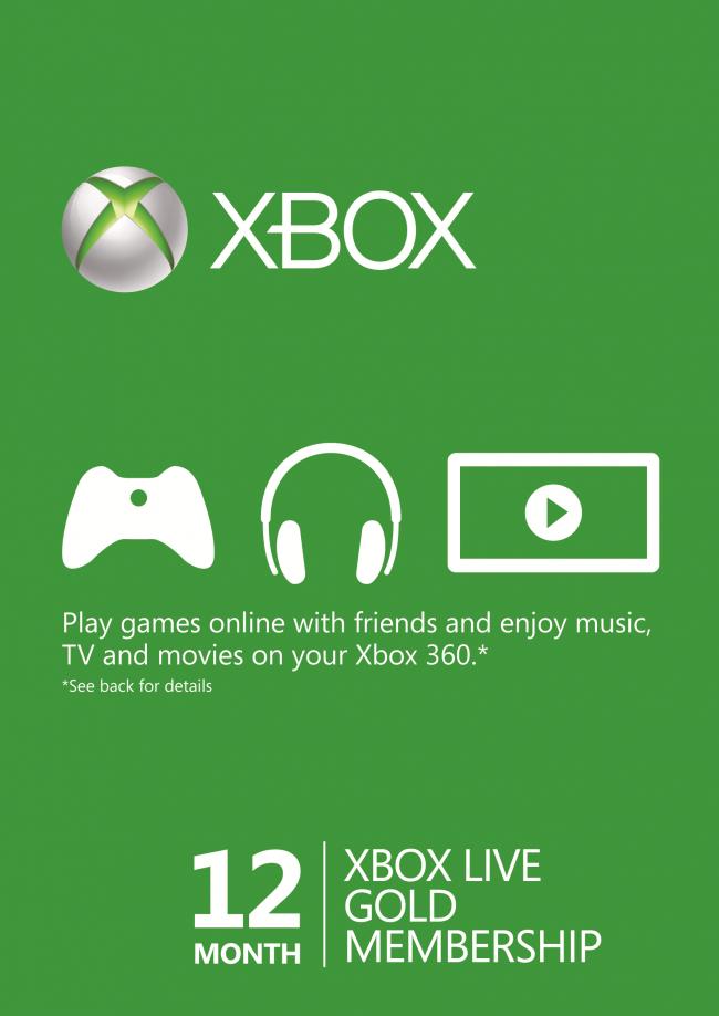 12 Monate Xbox Live Goldmitgliedschaft