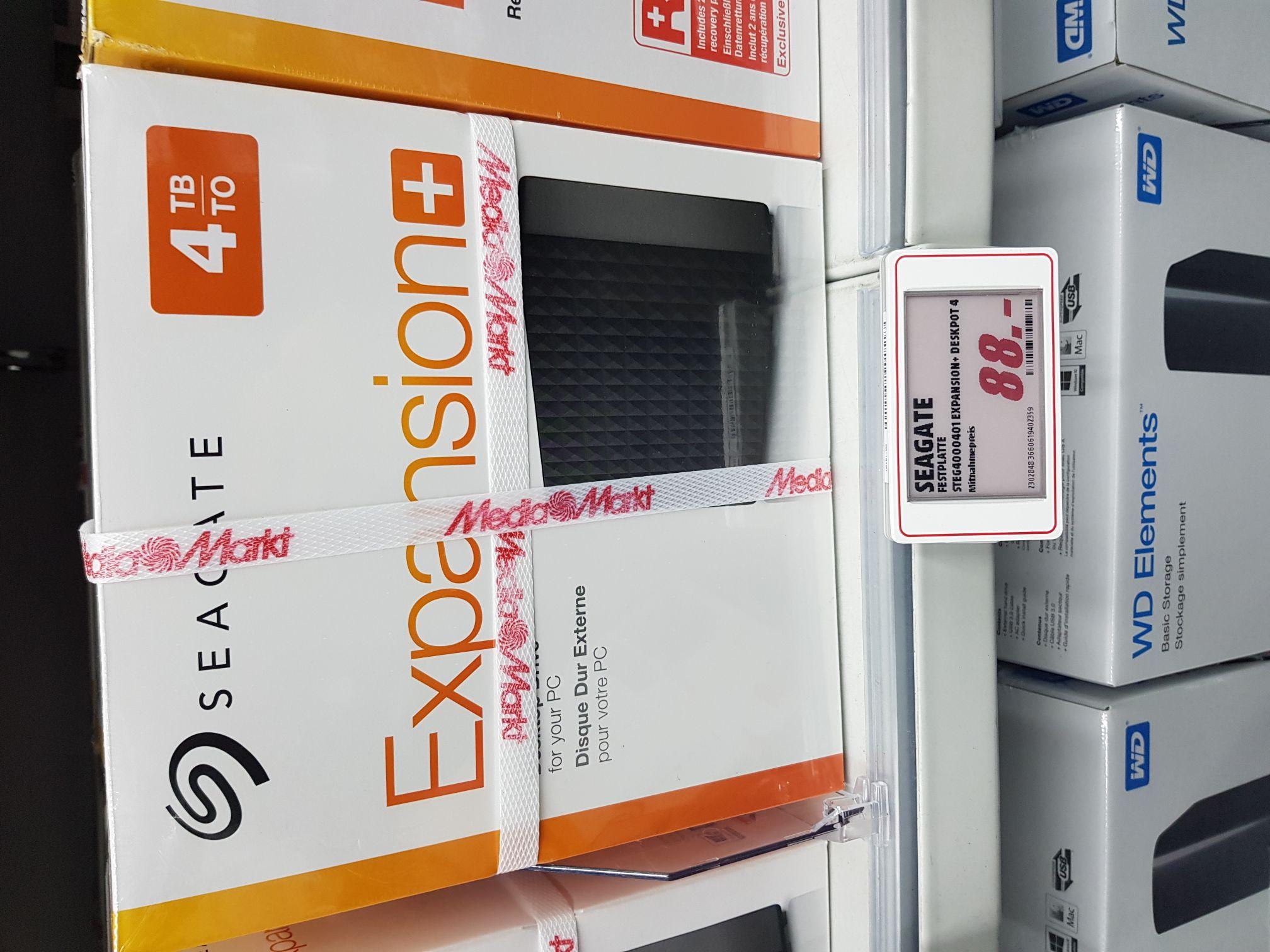 [LOKAL Mediamarkt Berlin Schloßstr] Seagate 4TB 3,5Zoll Externe Festplatte