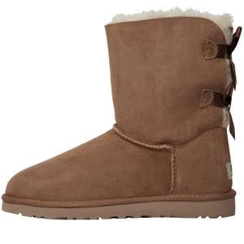 "UGG Boots-Sale bei MandM Direct, z.B. ""Bailey Bow"" ini Hellbraun (Gr. 36-40) *mehr Auswahl*"
