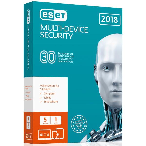 ESET Multi-Device Security 2018 [5 Geräte - 1 Jahr - Vollversion]