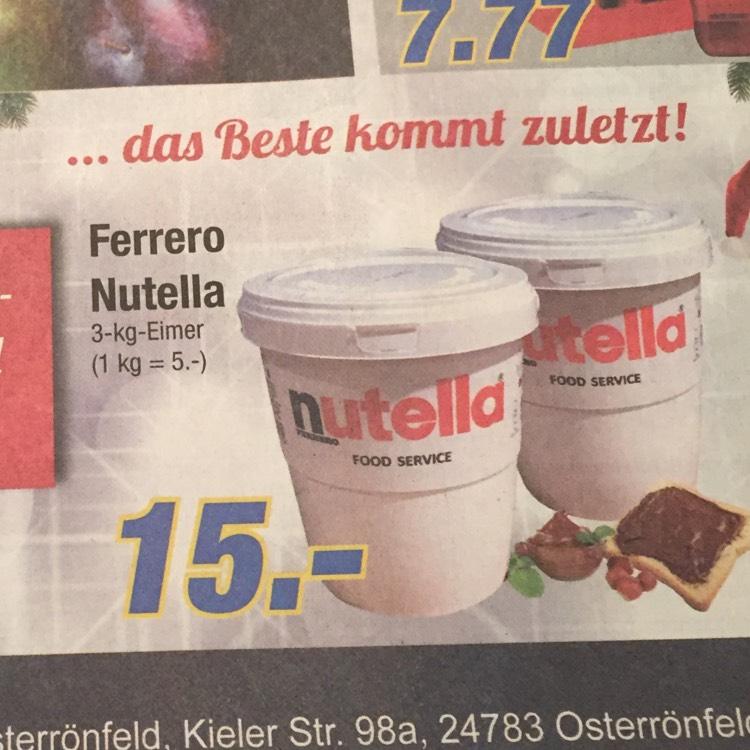Nutella im 3Kg-Eimer [Lokal Edeka Hoof Osterrönfeld]