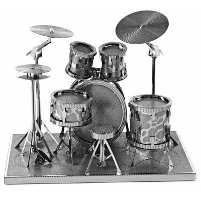 [Gearbest] 3D Drum Set Puzzle aus Metall - silber