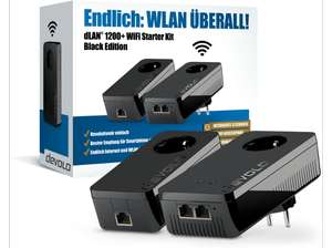 DEVOLO DLAN 1200+ WiFi Black Starter Kit