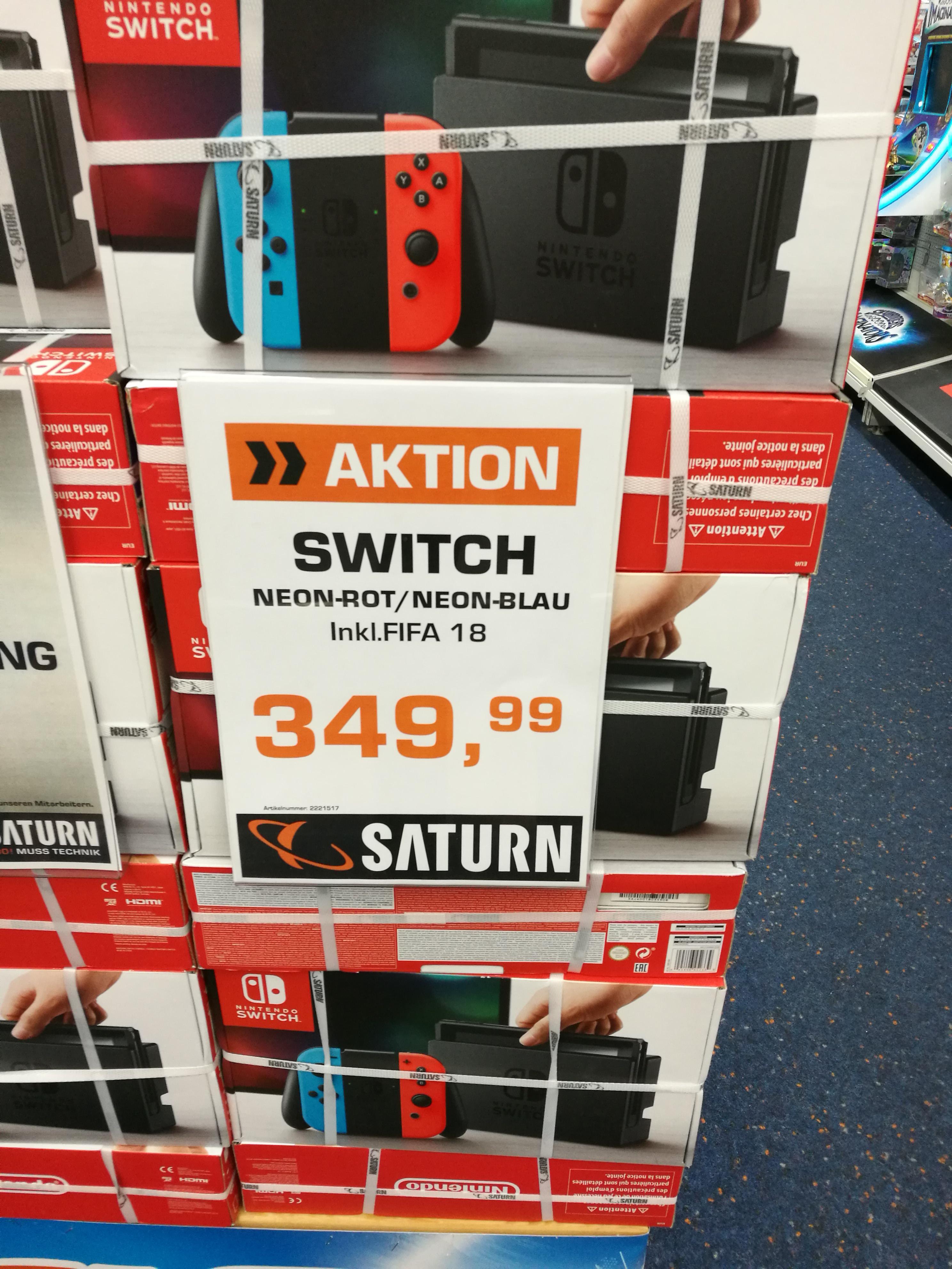 [Lokal] Frankfurt Saturn MyZeil Nintendo Switch inkl. FIFA 18
