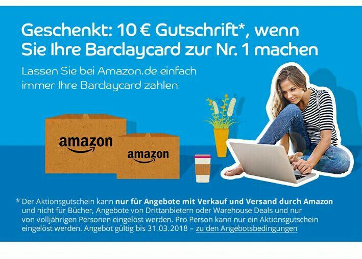 Barclay -10€ Ausgewählte Kunden