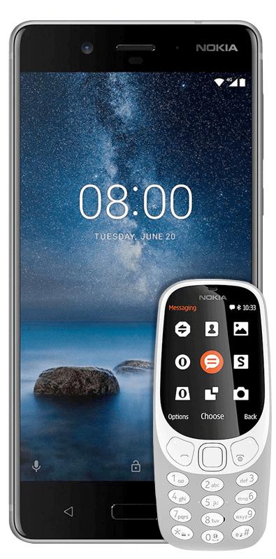 Nokia Duo: Nokia 8 + Nokia 3310 Dual Sim mit Mobilcom Debitel Tarif / ohne LTE [Media Markt]