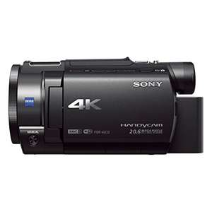 Sony FDR-AX33 4K Camcorder (Exmor R CMOS Sensor, 7,5 cm (3,0 Zoll) Touch Display, ISO Norm MI Zubehör Schuh)