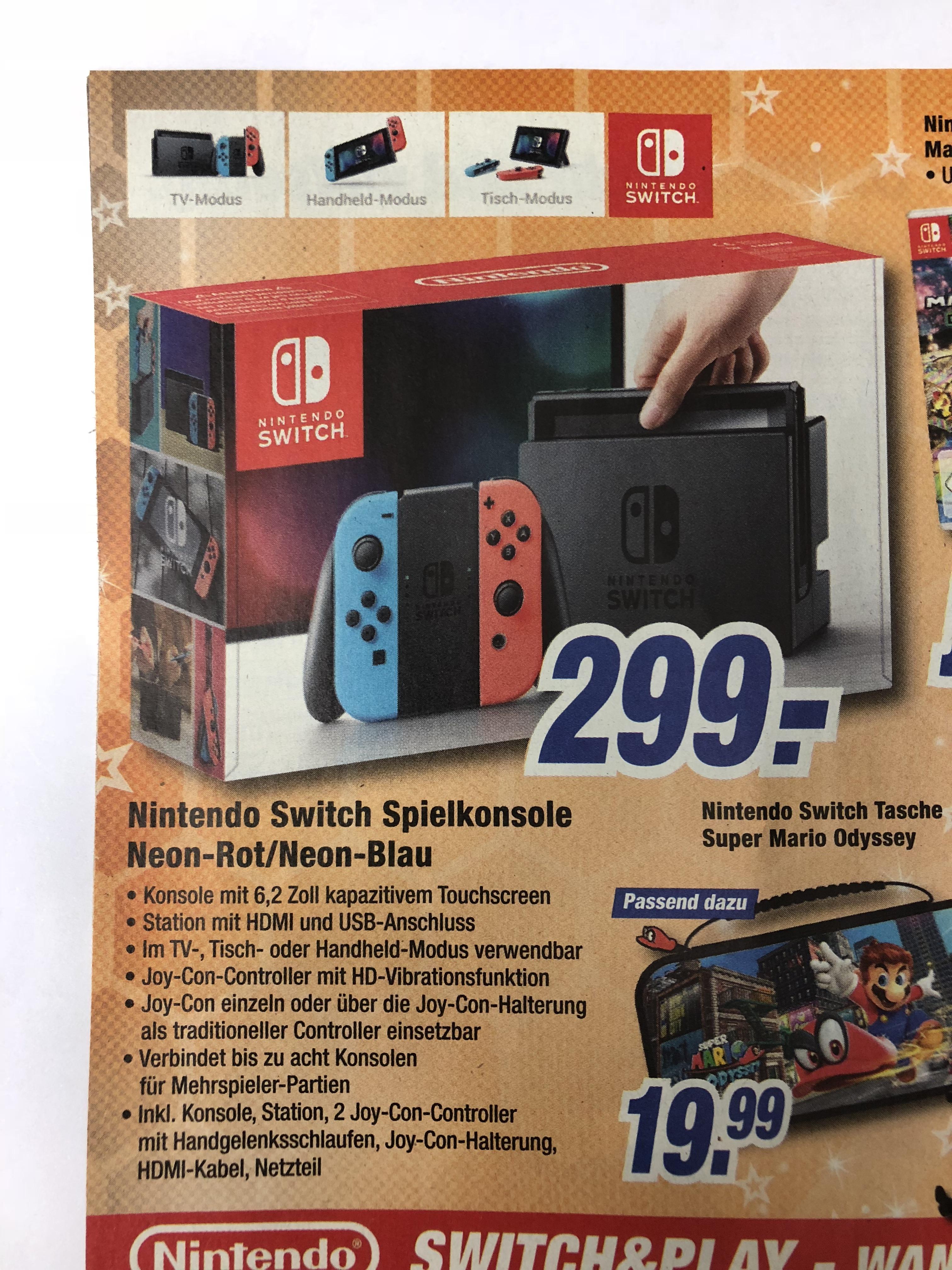 [Lokal] expert Allgäu: Nintendo Switch rot/blau (Online Bestellung +3,99€ VSK möglich!)