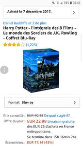 Harry potter bluray 1-8 amazon.fr