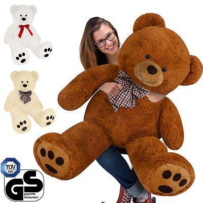 Teddybär 90cm Plüsch Bär Teddy Kuscheltier Stofftier Plüschtier Plüschbär Bär
