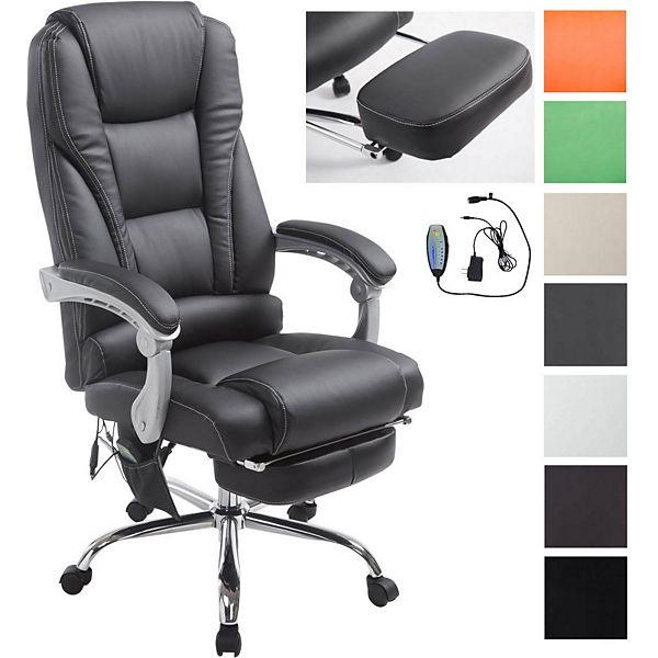 Bürostuhl / Chefsessel PACIFIC mit Massage-Funktion und Fußablage