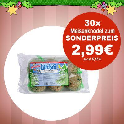 30 x 90 g Lillebro Meisenknödel zum Sonderpreis / Zooplus.de