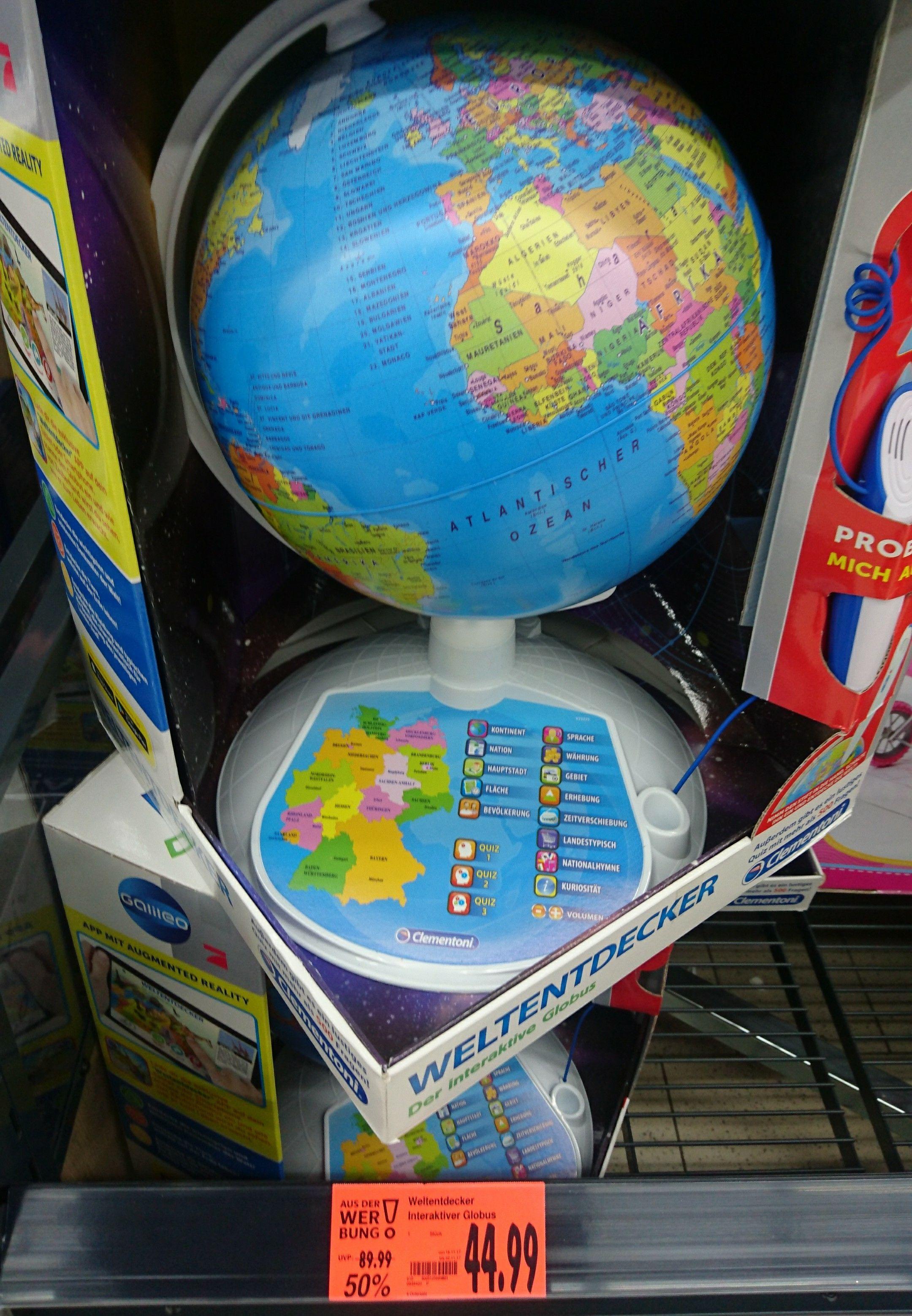 Galileo interaktiver Globus Clementoni im Kaufland für 44,99€ statt 64,90€