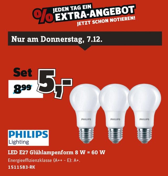 [Conrad] Philips LED Lampe, Dreierpack, Tagesangebot, Abholung im Markt
