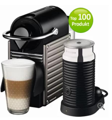Krups Pixie XN 301T Nespresso titan inkl. Aeroccino 3 für 129