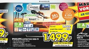 [Lokal Ahaus] Philips 65PUS7502 LED-Fernseher (Ultra-HD, Smart TV, Android, Ambilight)