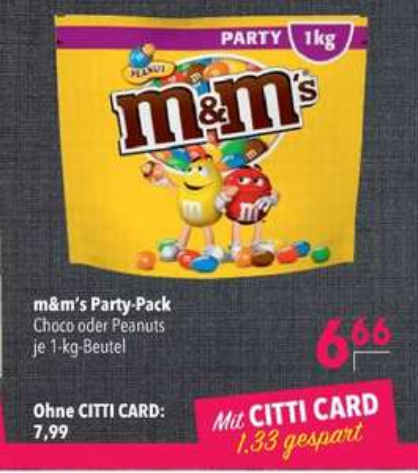 [Lokal Norddeutschland] m&m's Peanut Party Pack (1kg)