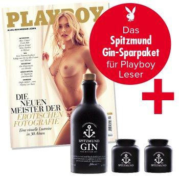 Update* [Playboy] 6 Ausgaben und Spitzmund Gin 0,5L 47% + 2 Tonbecher   Kündigung notwendig