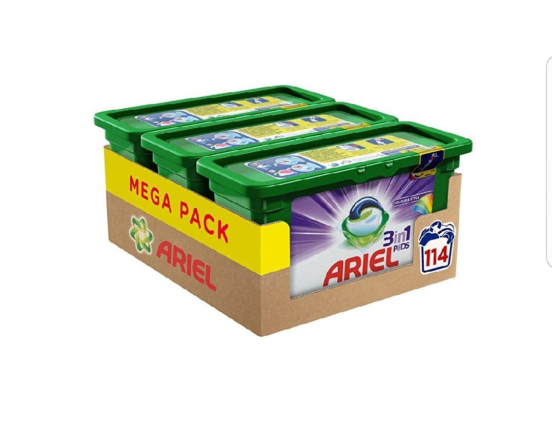 Ariel 3 in 1 Pods 114 Waschladungen Vollwaschmittel oder Color [Amazon]