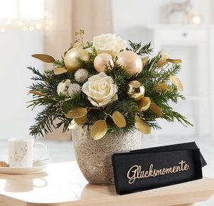 BlumenstraußWeihnachtsgruß mit Echtholz Schriftzug für 19,94€ (Blume2000)