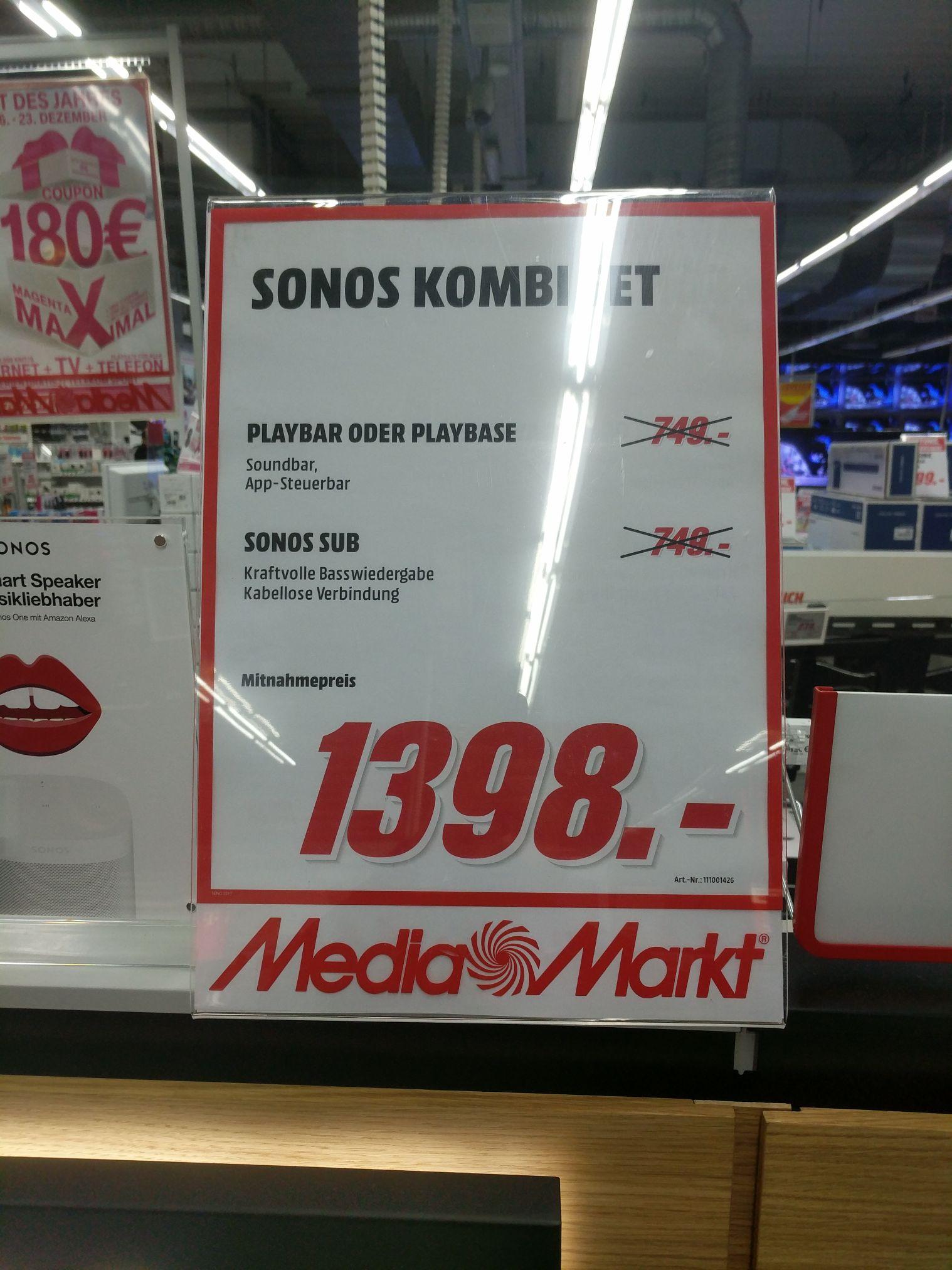 Sonos Setpreis mit Playbar & Sub