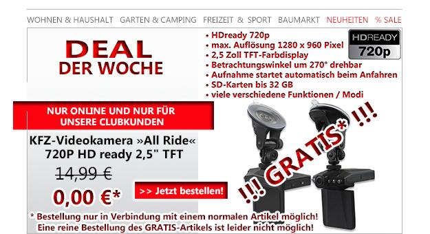 Belkin iPad mini Strap Cover schwarz und  KFZ-Videokamera digital All Ride 720P HD ready 2,5 TFT Dashcam  für nur 4,80€ Versandkosten bei Jawoll.de als Club-Newsletter Empfänger