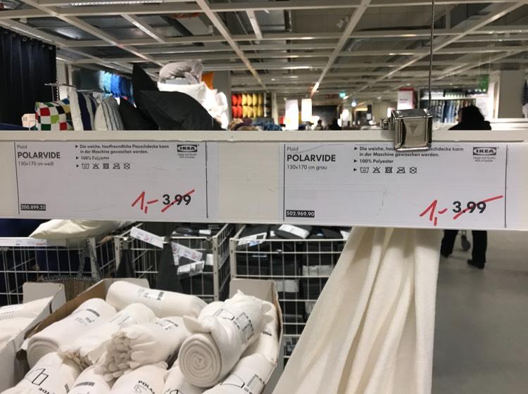 Lokal? Ikea Lichtenberg Polarvide Decke für nur 1€