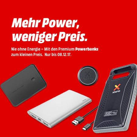 Diverse Powerbanks (ab 5,- Euro) als Aktion bei Media Markt | Beispiel: Anker Powercore 20100 mAh für 26€ (statt 35€) etc... bis 08.12 um 9 Uhr