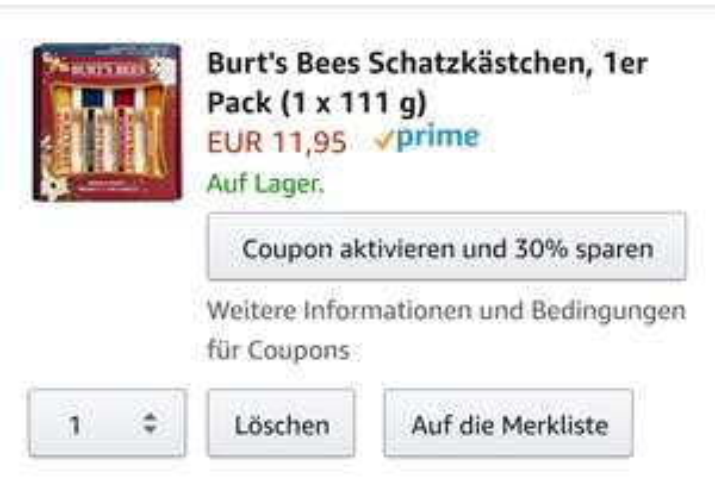 Burt's Bees Lippenpflege @Amazon Prime
