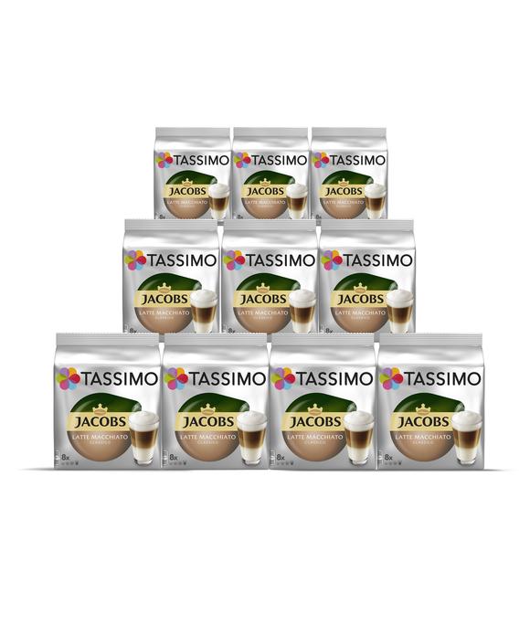 [TASSIMO.DE] Jacobs Latte Macchiato u.a. - 10 Packungen für 29,92€ (2,92€/Packung)