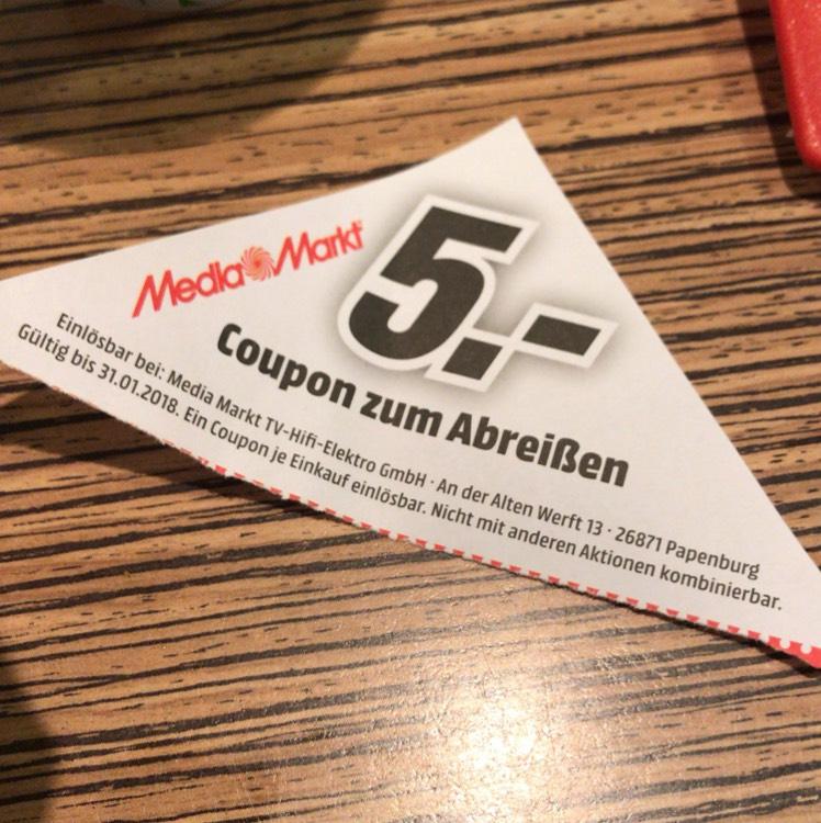 5€ Media Markt Gutschein (evtl. lokal Papenburg) auf McDonalds Tabletts