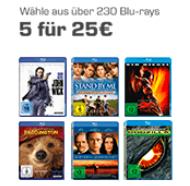 5 Blu-rays für 25€ bei Saturn