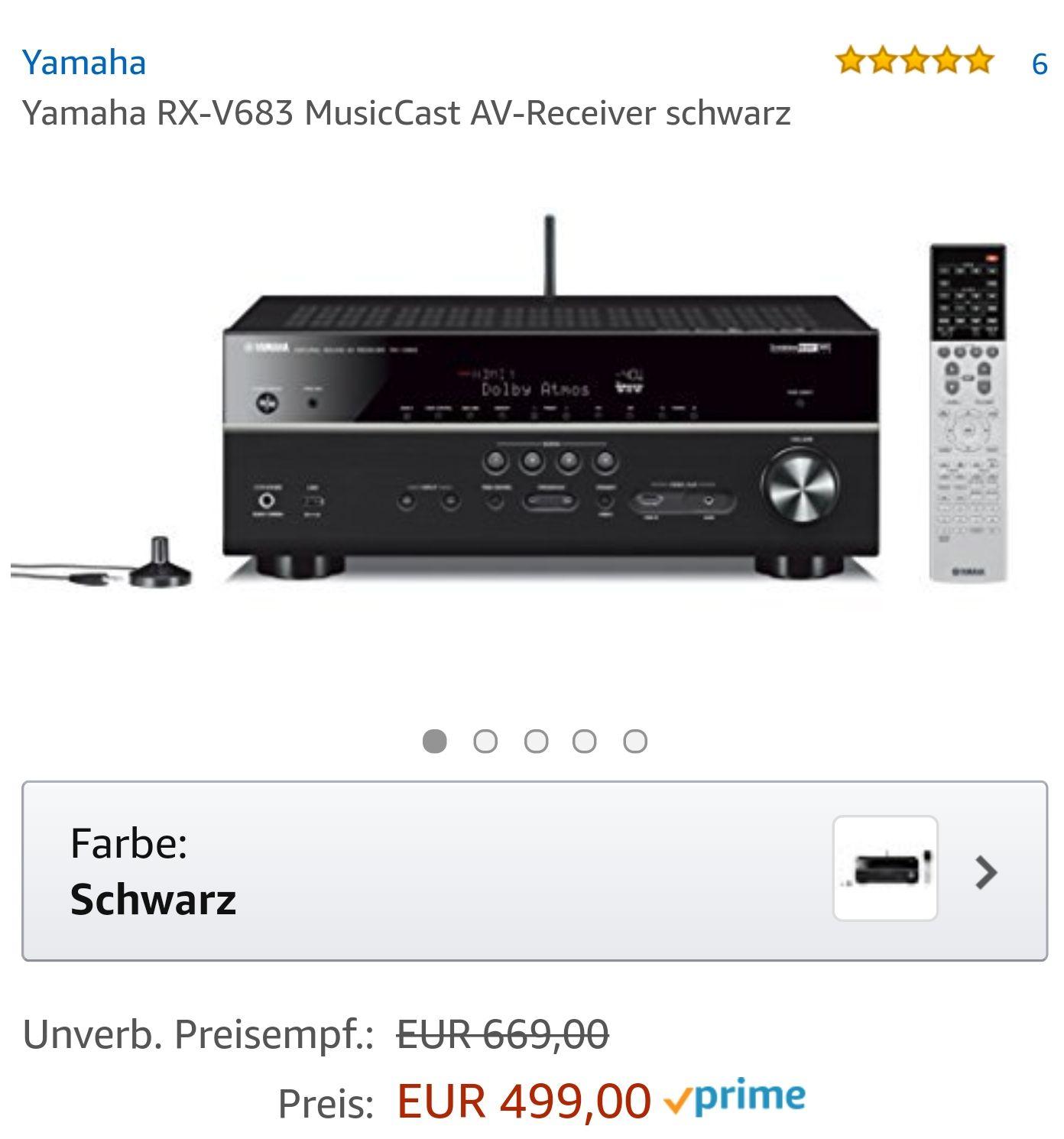Yamaha rx-v683 AVR multicast av Receiver