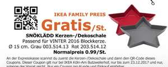 [IKEA - Köln Am Butzweilerhof] SNÖKLÄDD Kerzen-/Dekoschale