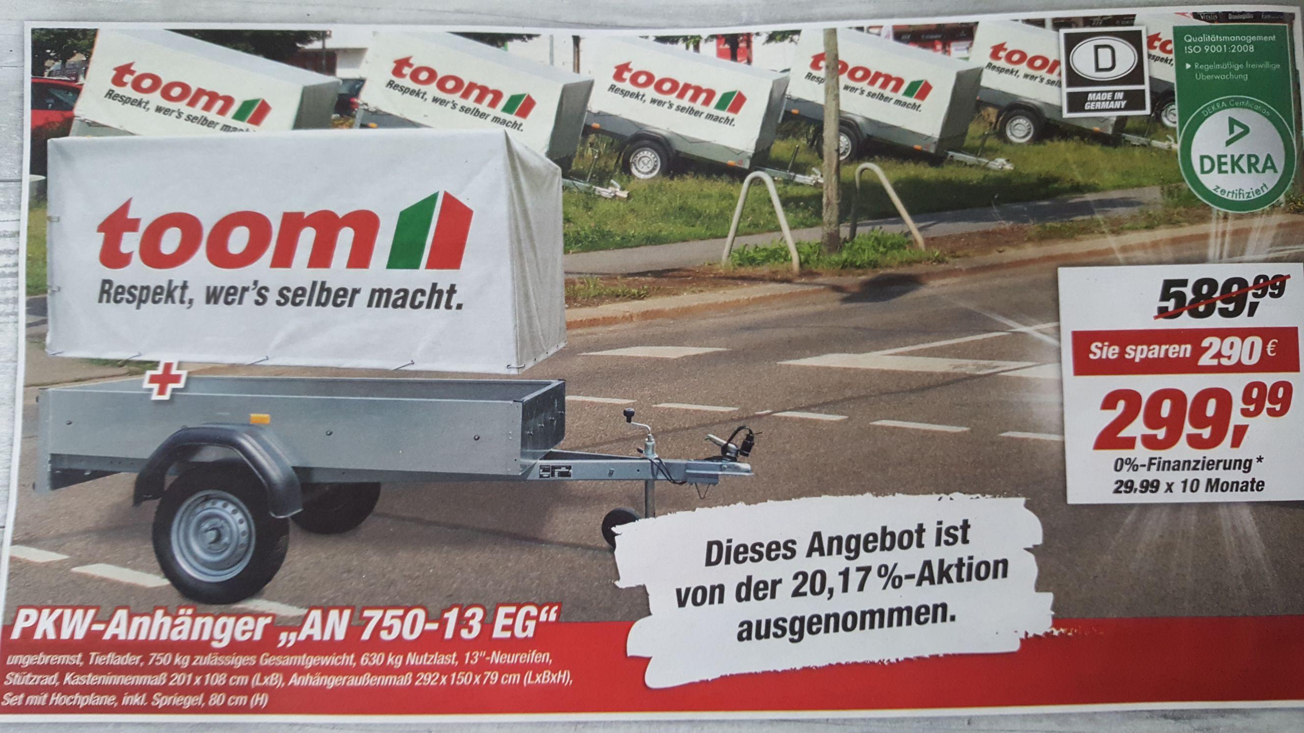 (LOKAL) Toom Ihlpol/Ritterhude PKW-Anhänger KW.50