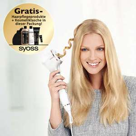 Philips ProCare Auto Curler Ionic HPS950 + Syoss Haarpflegeset und Kosmetiktasche (auf eBay von Philips)