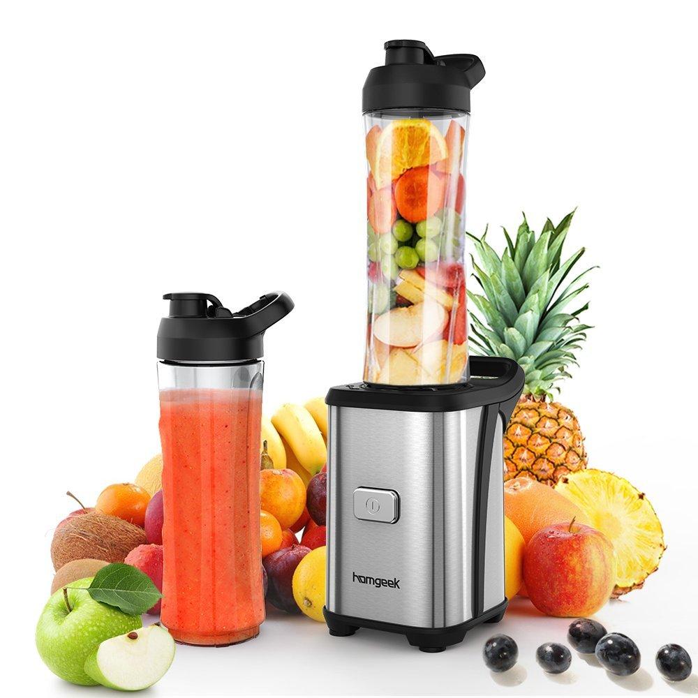 Smoothie Maker mit 350 Watt und 2 BPA freien Trinkflaschen a 600 ml