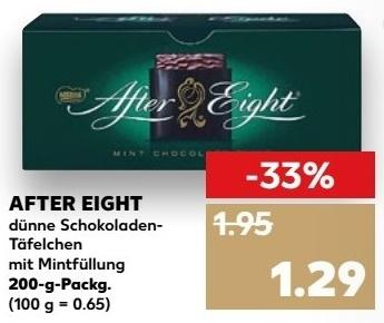 [Kaufland ab 14.12.] 200g Packung After Eight mit Coupon für 0,89€