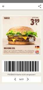 (Burger King) Big King XXL für 3.99€