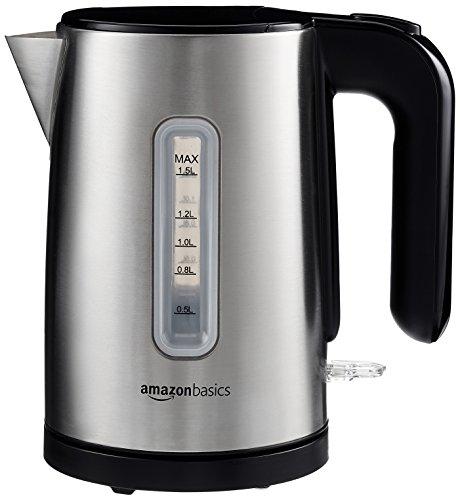 [Amazon] - AmazonBasics Elektrischer Wasserkocher, 1,5 l, gebürsteter Edelstahl 18,45 €