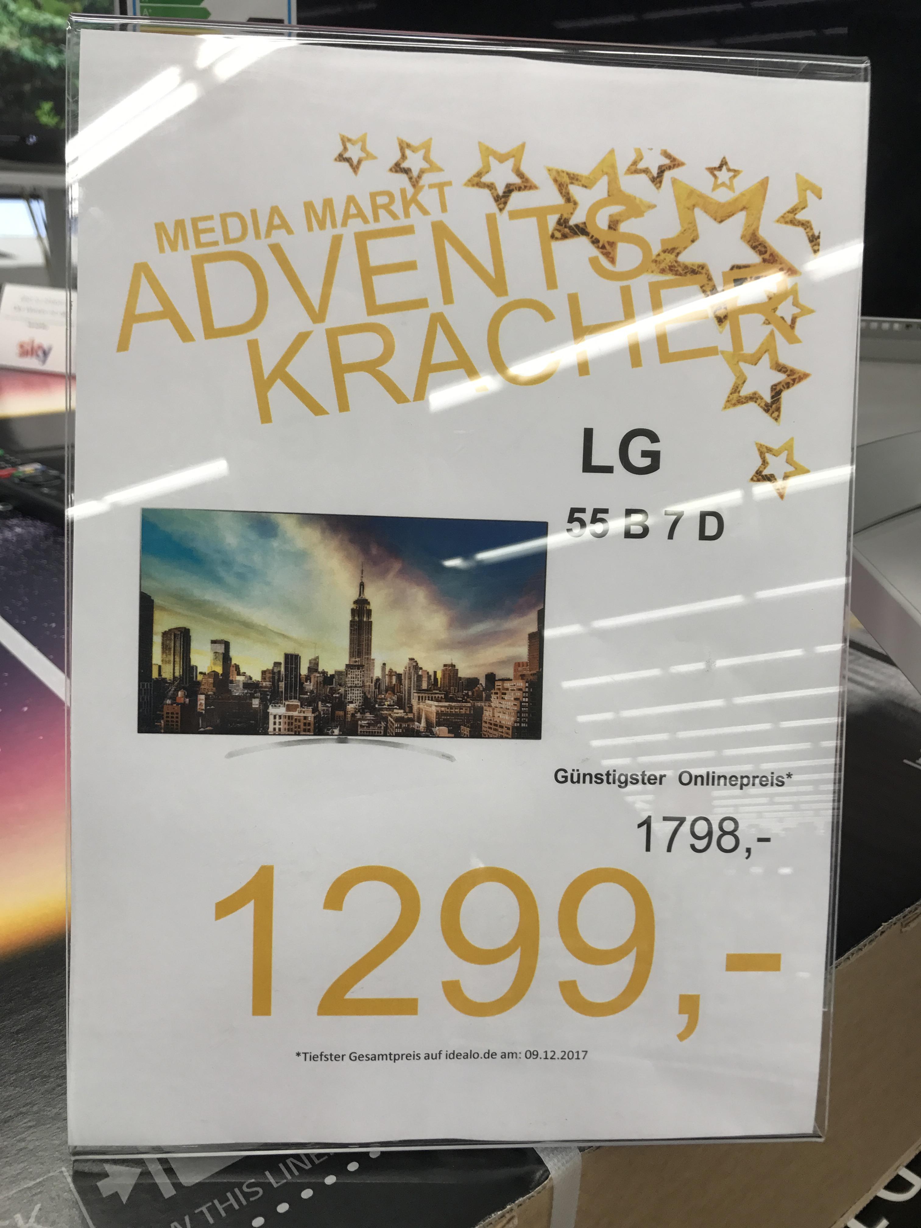 Mediamarkt Elmshorn: LG - OLED - 55B7D - 1299€