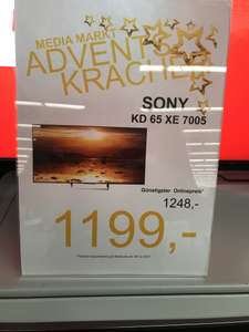 "Media Markt Elmshorn ""SONY KD 65 XE 7005"" ADVENTS KRACHER"