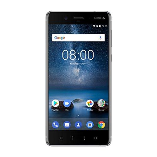 "Nokia 8 Smartphone (5,3"", 64 GB ROM, 4 GB RAM, 13 MP Kamera, Single SIM) Stainless Steel (Amazon.fr)"