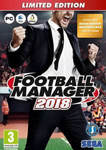 Football Manager 2018 Limited Edition (PC) für 25,80€ (Amazon UK + ShopTo)